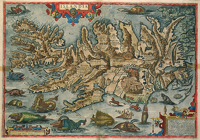 Jean Boisseau's 1648 map of Iceland.