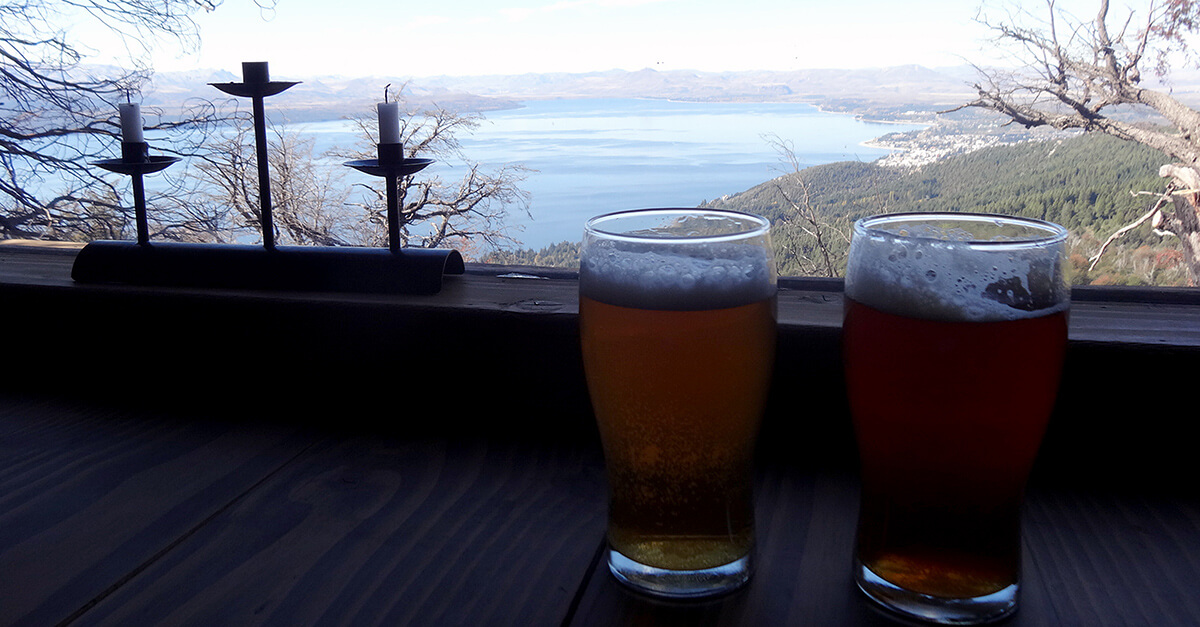 Argentinian microbrews outside Bariloche