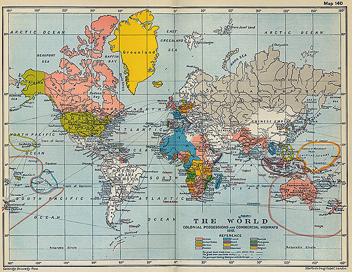 The world in 1910