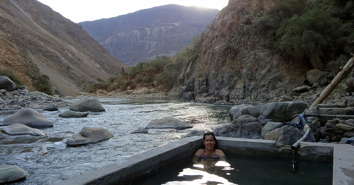 Trekking Colca Canyon solo - Llahuar hot springs