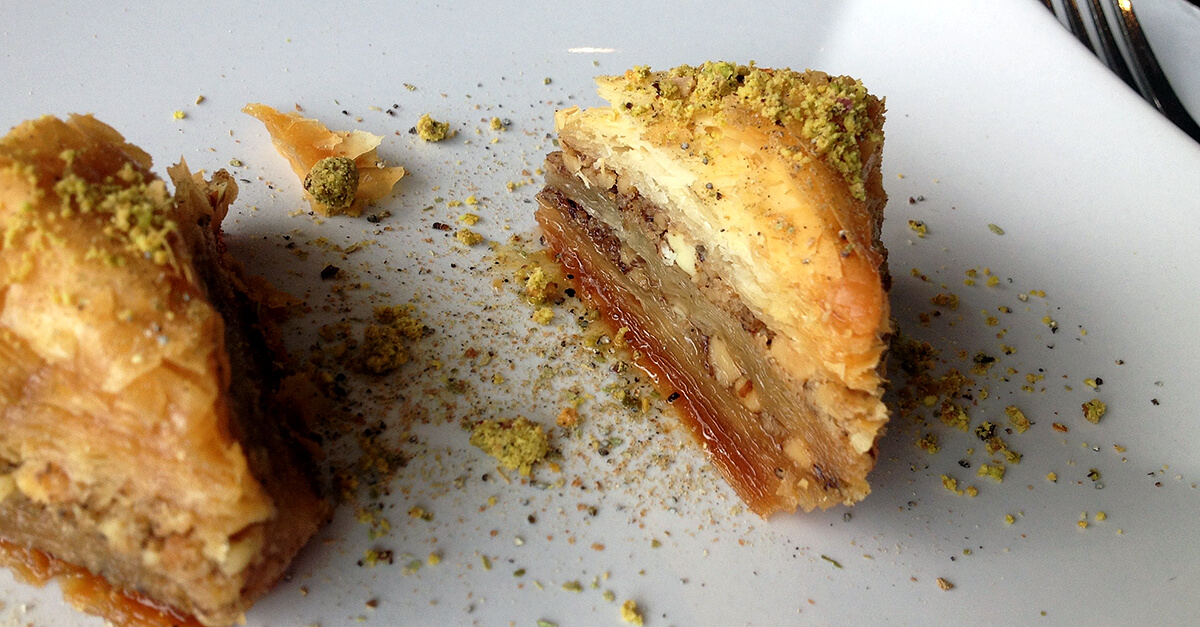 Washington, DC off the beaten path - Baklava at Afghan Grill
