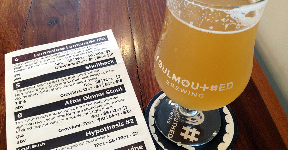 Breweries in South Portland, Maine - Foulmouthed