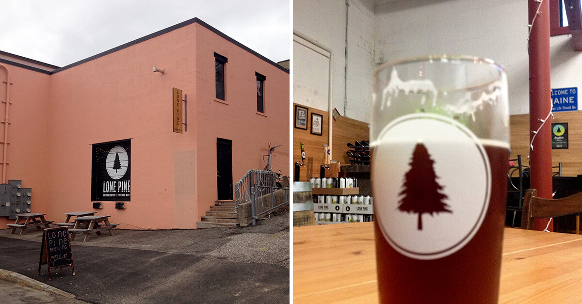 Portland Maine breweries - Lone Pine