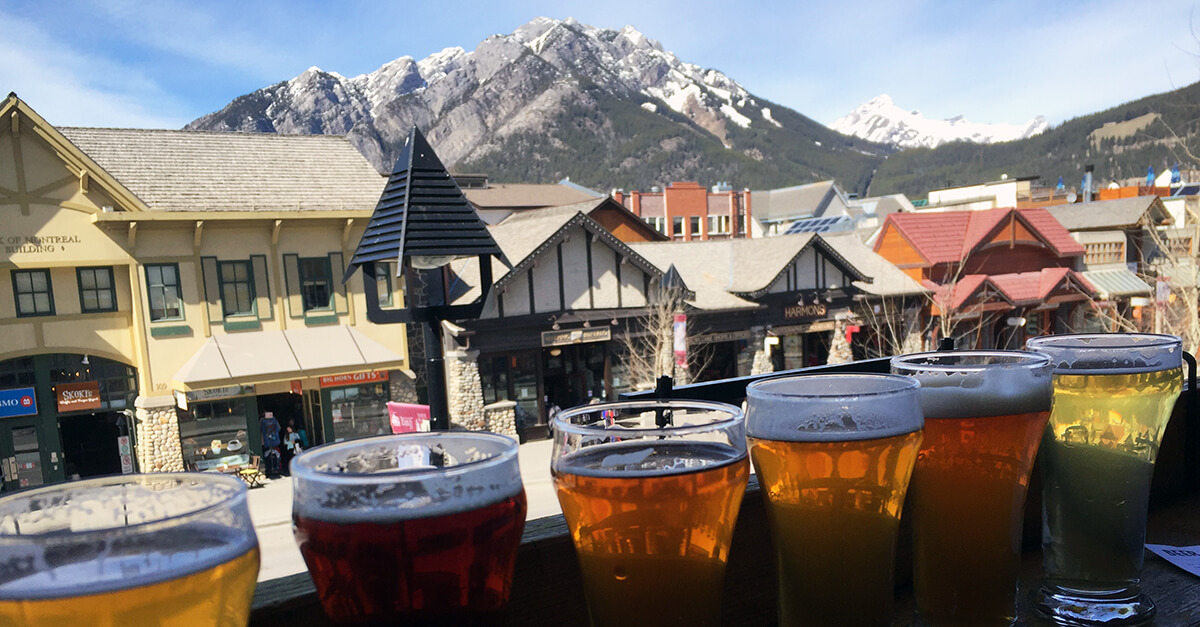 Best microbreweries with a view - Banff Ave