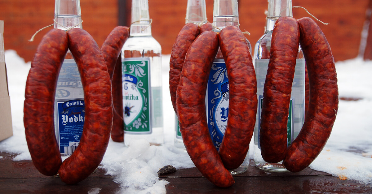 Traditional Slovak food - Sausages