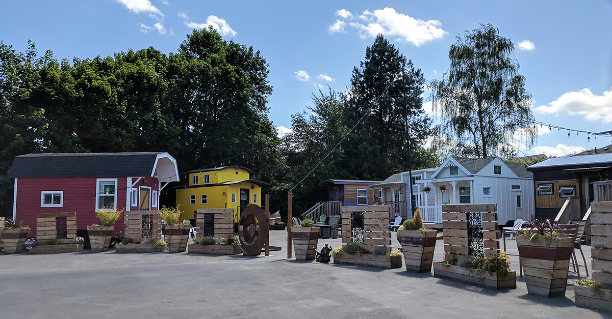 Weird places to stay in Portland Oregon - Tiny House Hotel