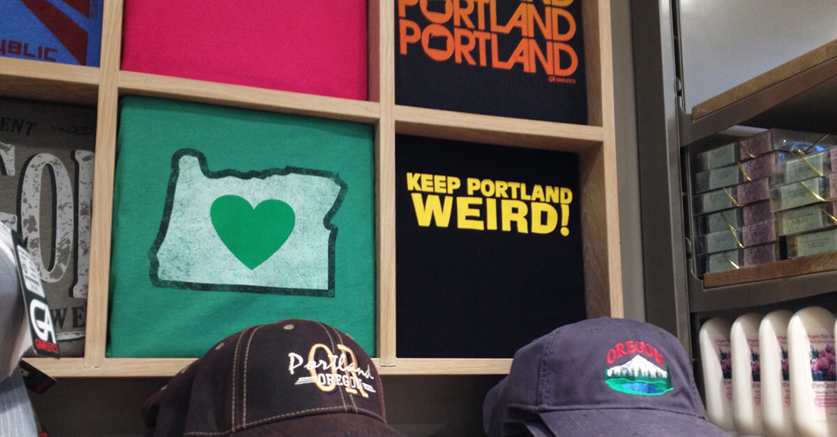 Weird things to do in Portland - Made in Oregon store at PDX