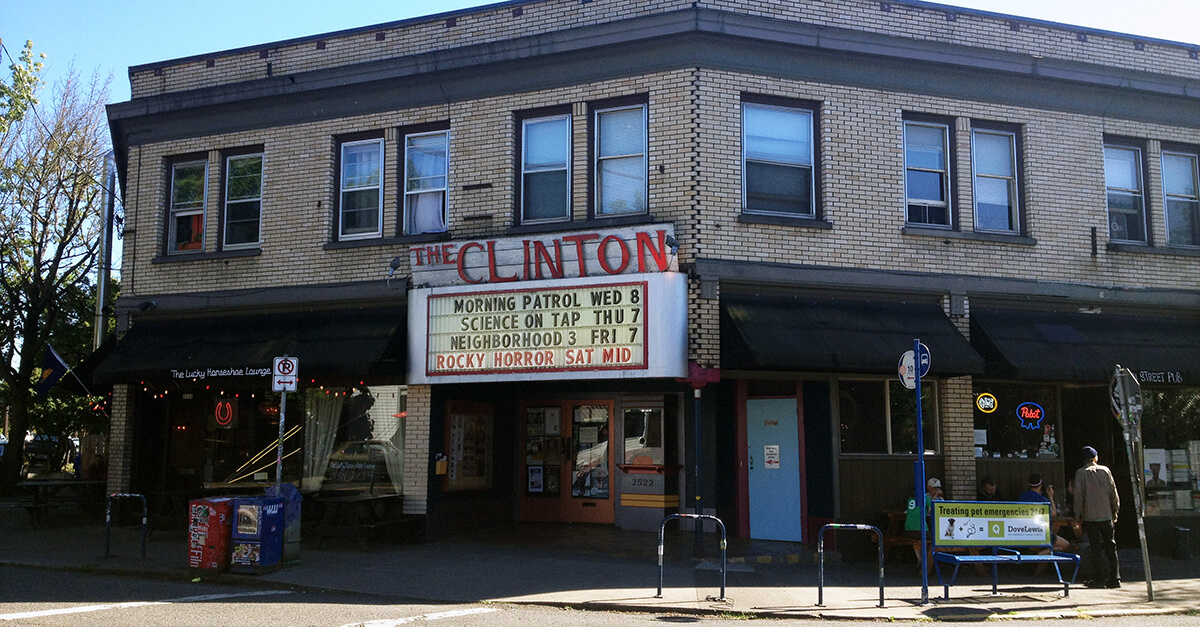 Portland places to visit - Clinton Street Theater