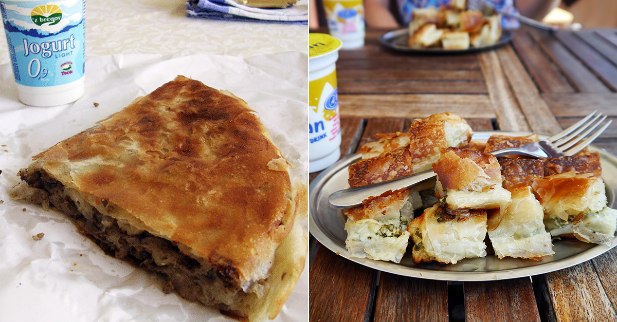 Traditional Serbian food - Burek